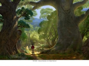 The warm, lush environment of 'Tangled.'