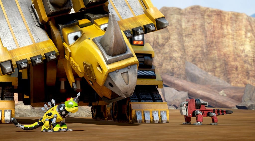 Dozer with Revvit the Reptool and another Reptool. (c) DreamWorks Animation