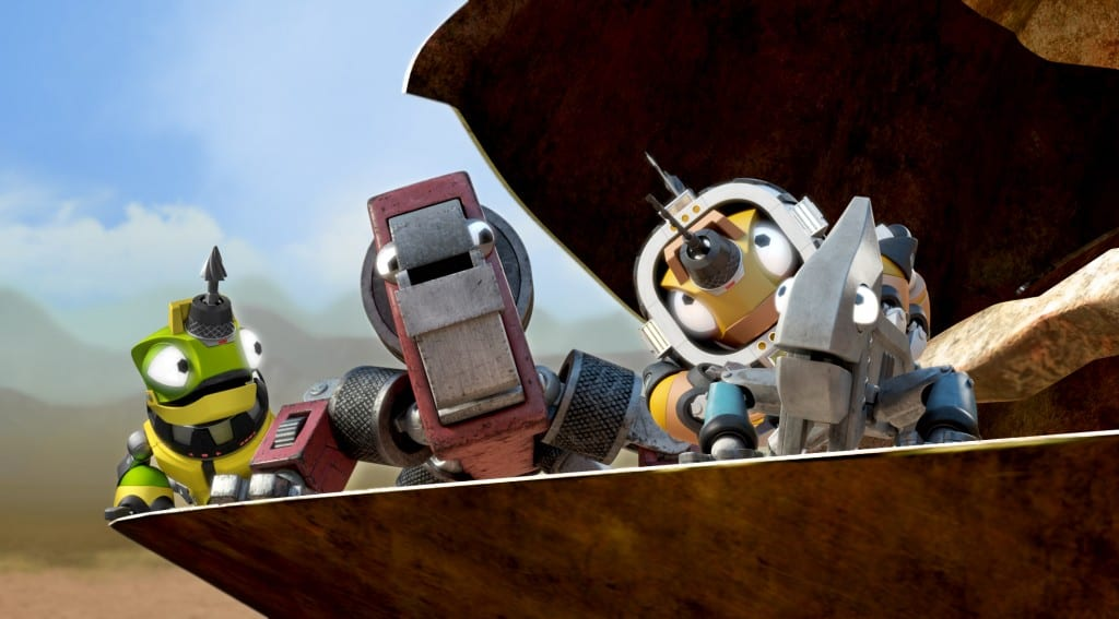 Revvit and his other Reptool friends. (c) DreamWorks Animation