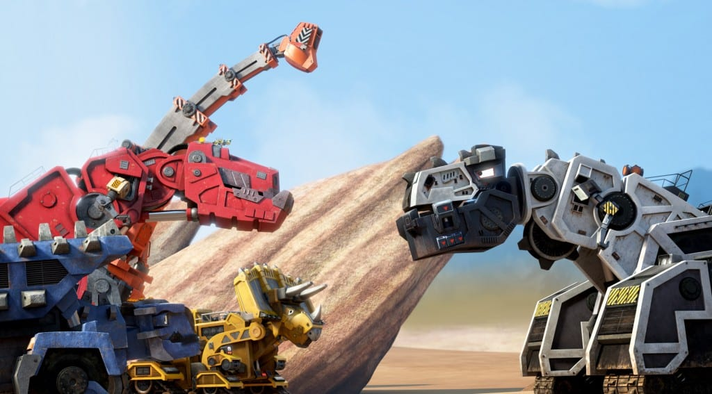 The Dinotrux friends meet the bully, D-Structs, once again. (c) DreamWorks Animation