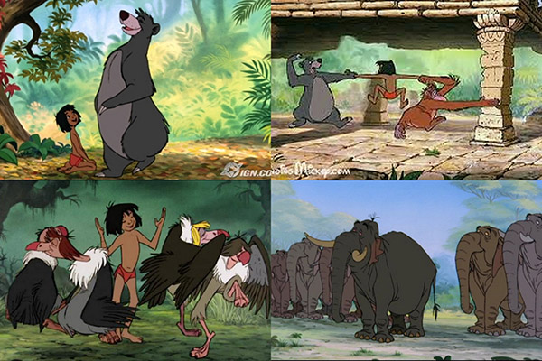 jungle book collage
