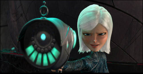 Monsters vs. Aliens - Ginormica with gun