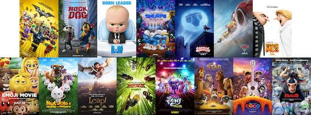 2017 animated features