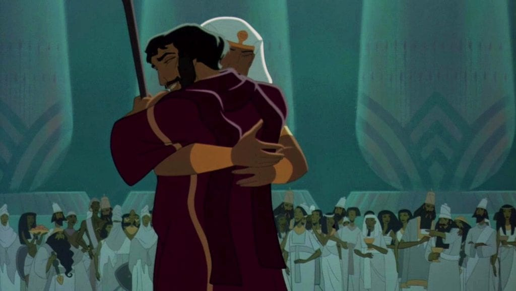 Moses in the prince of Egypt