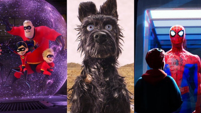 Incredibles 2, Isle of Dogs, Spider-Man: Into the Spider-Verse
